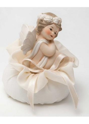 Angioletto seduto su sacchetto A7301/A31 Cupido AD Emozioni
