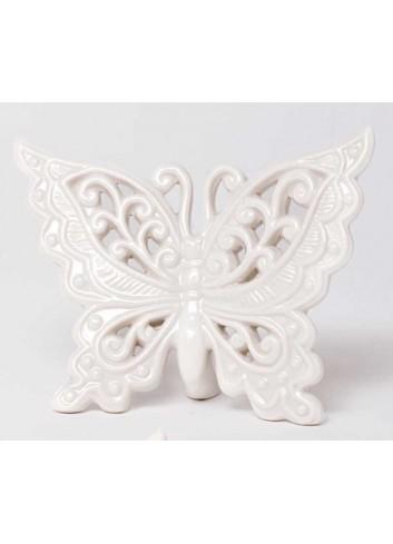 Farfalla da appoggio in ceramica bianca A5901-2-3 Romantic AD Emozioni