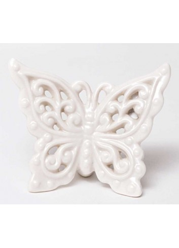 Civetta magnete tortora chiaro in ceramica artigianale pugliese