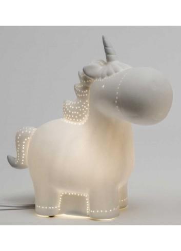 Lampada led Unicorno in porcellana A6701 Luce AD Emozioni