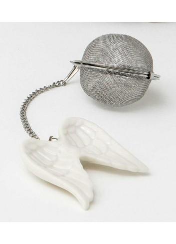 Infusore per tisane con ali in porcellana A9106 Infusi d'amore AD Emozioni