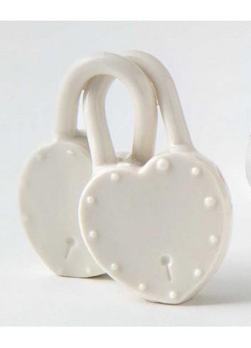 Lucchetto doppio in porcellana A7707-8 Eventi d'amore AD Emozioni