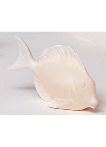 Pesce in ceramica bianca con led A4601/02 Portofino AD Emozioni