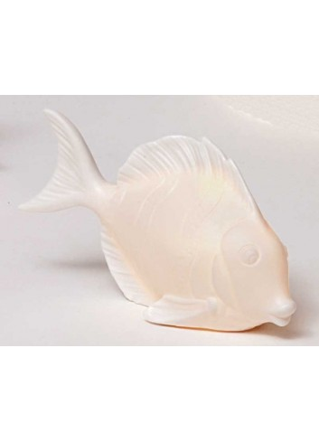 Pesce in ceramica bianca con led A4601-2 Portofino AD Emozioni