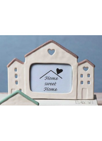 Cornice casa grande in porcellana tortora Home sweet home A1808 AD Emozioni