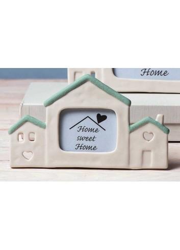 Cornice casa piccola in porcellana verde Home sweet home A1807 AD Emozioni