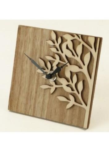 Orologio in legno quadrato 18 x 18 D5035 Cuoregaio Cuorematto