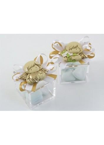 Portaconfetti con magnete angelo Anna 5 x 5 x 5 D4928 Cuoresavio Cuorematto