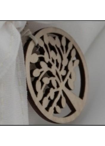 Alberello in legno applicazione G3317 Cuorematto