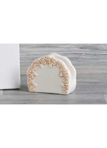 Portatovaglioli in porcellana D5401 Cuorecountry Cuorematto