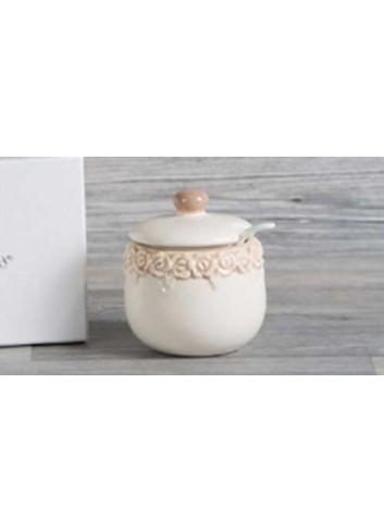 Zuccheriera in porcellana D5402 Cuorecountry Cuorematto