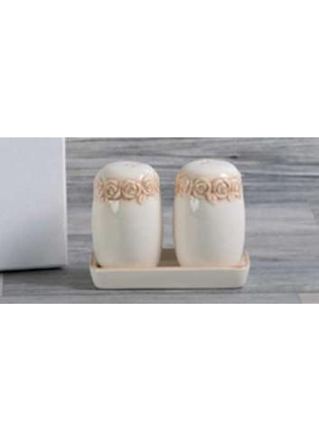 Sale e pepe in porcellana D5403 Cuorecountry Cuorematto