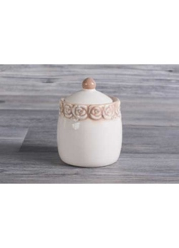 Barattolino in porcellana D5408 Cuorecountry Cuorematto