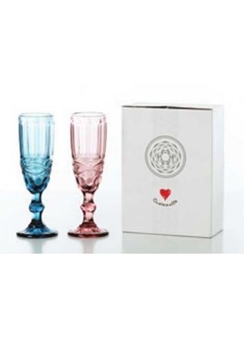 Coppia bicchieri Flute 2 colori assortiti D5441 Cuorechef Cuorematto