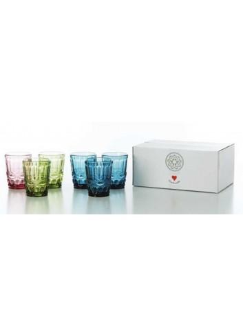 6 bicchieri da acqua 3 colori assortiti D5443 Cuorechef Cuorematto