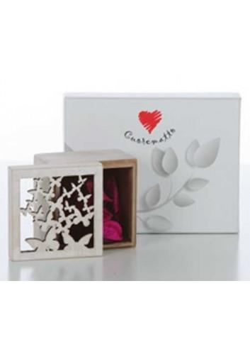 Scatola porta potpourri con farfalle in legno D5451 Cuoregaio Cuorematto