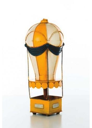 Mongolfiera in metallo gialla D5418 Cuoreinvolo Cuorematto