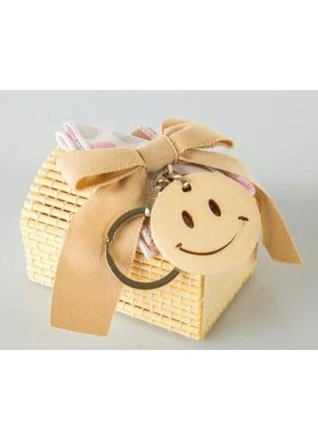 Scatolina bambù rosa smile D5389 Cuoresmile Cuorematto